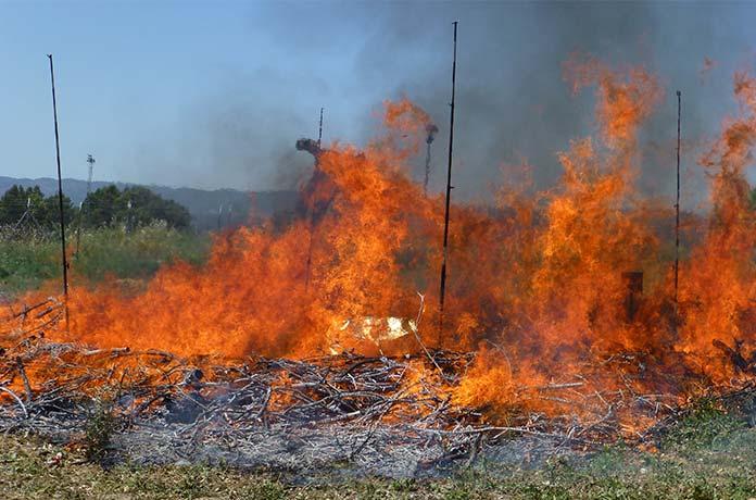 FOTO 5: Fire Shelter durante el experimento