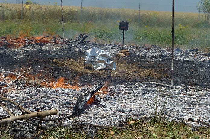 FOTO 6: Fire Shelter después del experimento