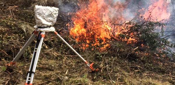 Monitoreo de Fuegos experimentales con radiometros