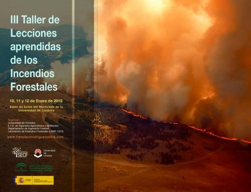 III Taller de Lecciones Aprendidas de los Incendios Forestales